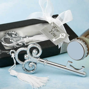 silver skeleton key bottle opener