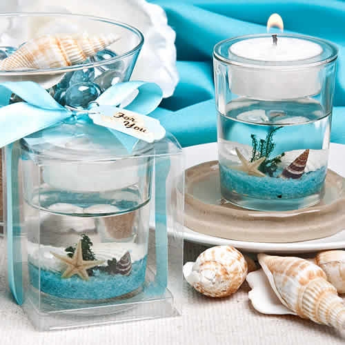 Beach Themed Bridal Shower Candle Favor Free Rush With Custom Tags