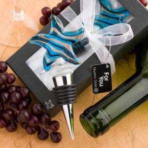 Murano Starfish Design Wine Bottle Stoppers