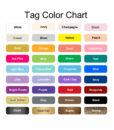 tag color options baby shower