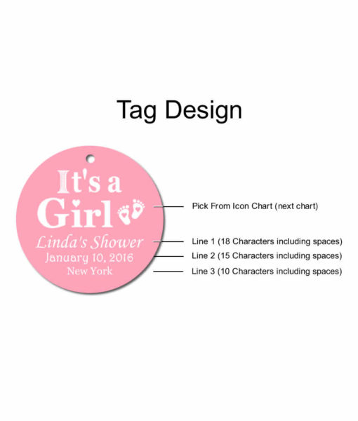 baby shower tag design