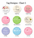 tag design chart 1 baby shower