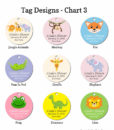 tag design chart 3 baby shower