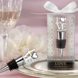 Love Chrome Bottle Stopper