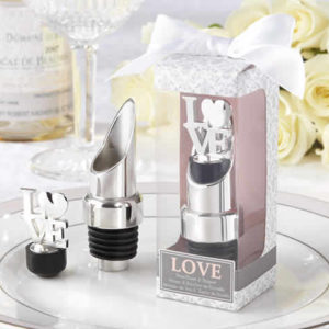 Love Chrome Pourer Bottle Stopper