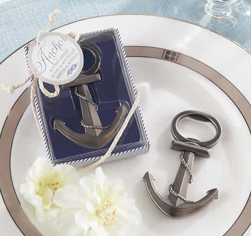 anchor bottle opener wedding favor