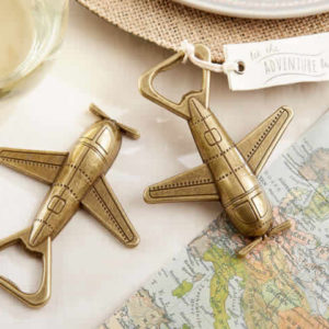 airplane bottle opener favor