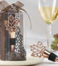 Leaf Copper Finish Bottle Stopper