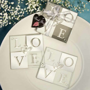 glass coasters wedding favors