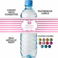 Water Bottle Labels Baby Girl Shower