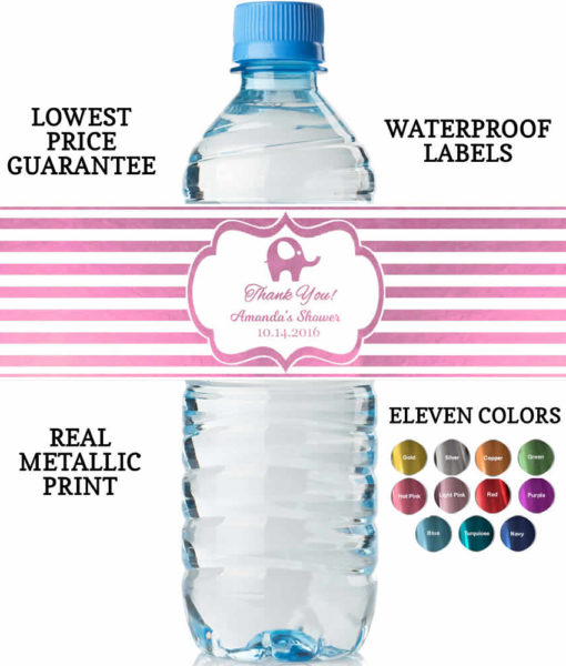 Water Bottle Labels Baby Girl Shower