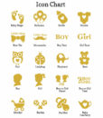 baby shower icon chart