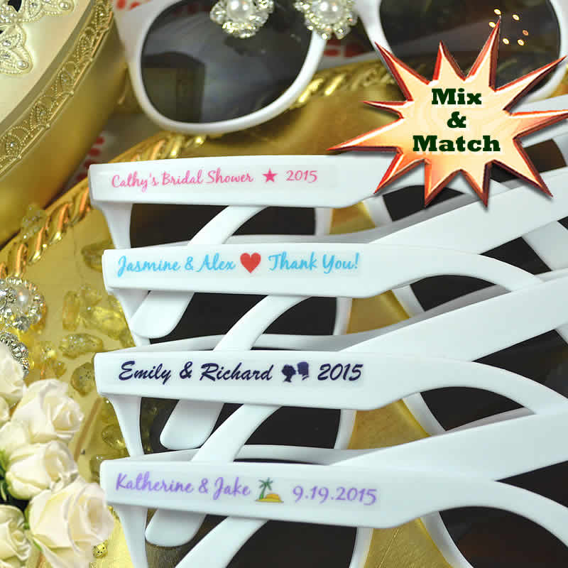 Custom Sunglasses Wedding Favors Free Assembly Free Bride