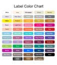 label color options