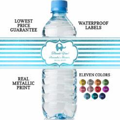 water bottle labels baby boy shower