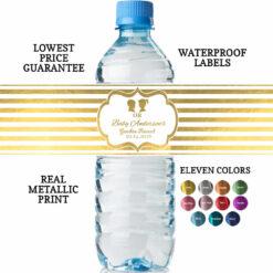 water bottle labels for gender reveal