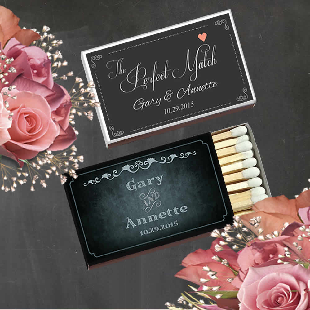 Personalized Wedding Matches Cheap, Custom Wedding Matches