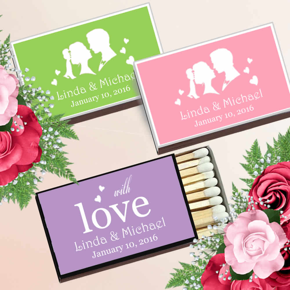 Personalized Matches Cheap Personalized Wedding Matches FREE Assembly