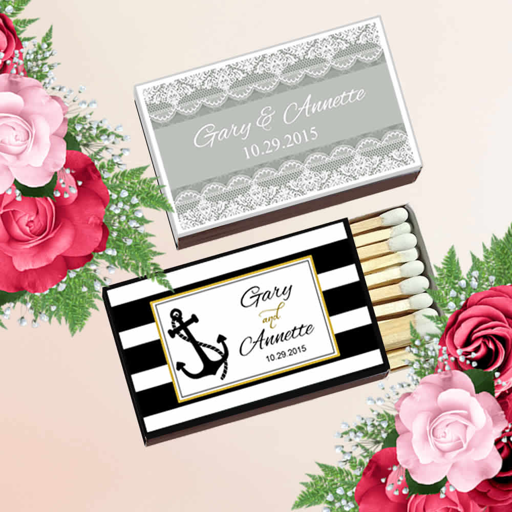 Custom Matches Wedding, Personalized Wedding Matches FREE Assembly