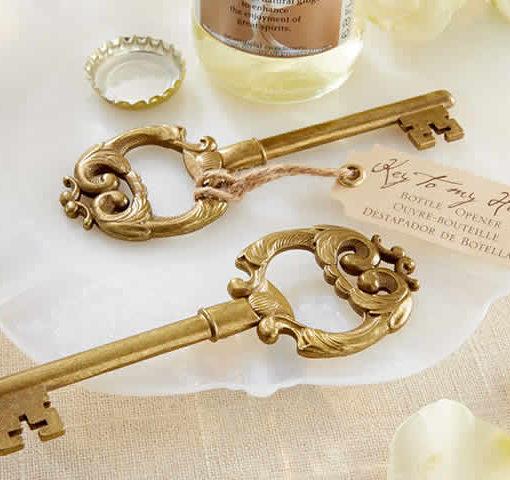 gold skeleton key bottle opener