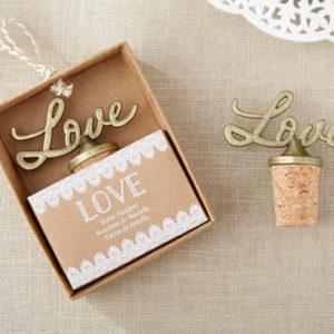 Love Antique Gold Bottle Stopper