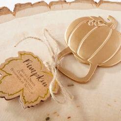 Pumpkin wedding favors, Pumpkin bottle opener