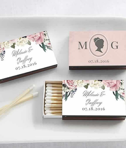 personalised matchboxes