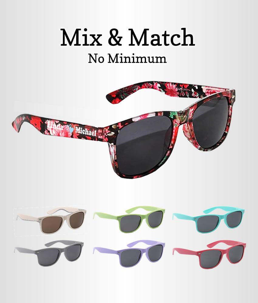 Bachelorette Sunglasses, Mix & Match - FREE Bride & Groom Pairs