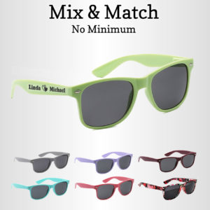 customized sunglasses wedding favors