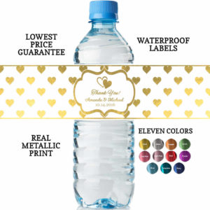 Water Bottle Labels Wedding