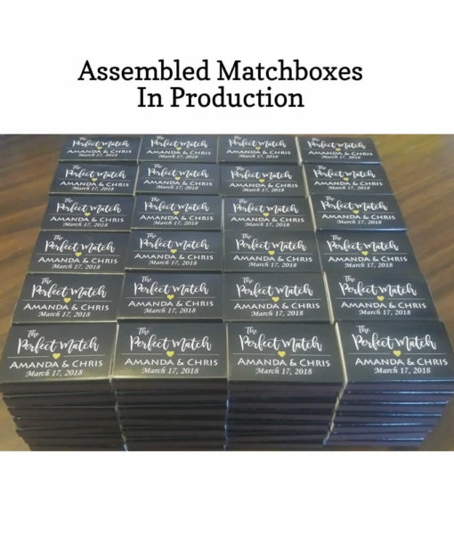 assembled matchboxes