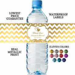 bridal shower water bottle labels