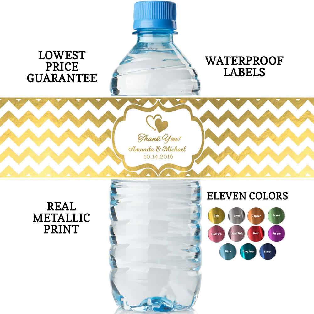 bridal shower water bottle labels