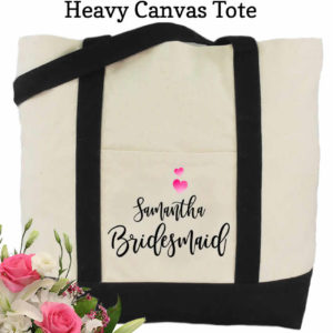 bridesmaid canvas tote bags