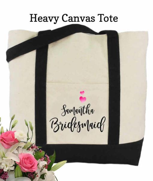 bridesmaid canvas tote bags