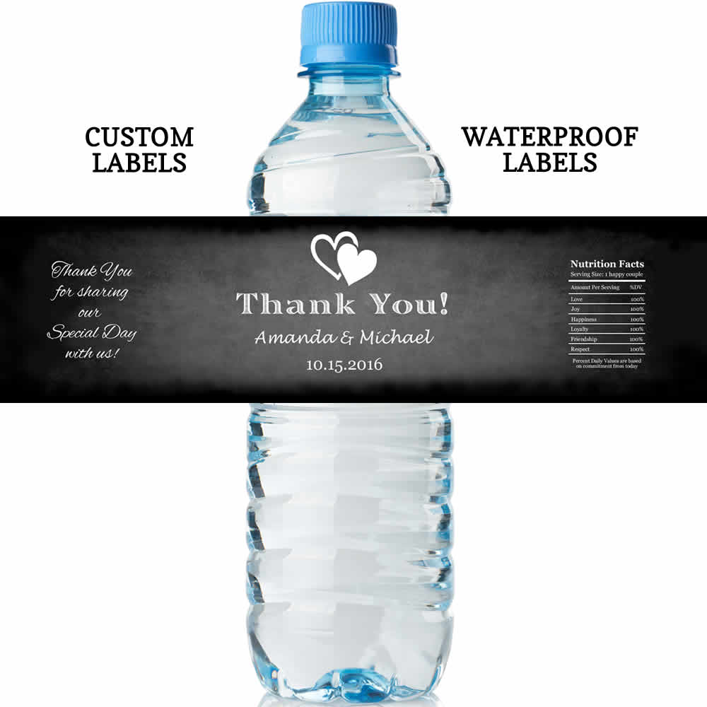 Wedding Water Bottle Labels.Chalkboard Water Bottle Labels Lowest Price Water Proof Labels
