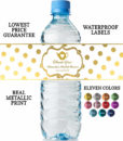 tea party water bottle labels