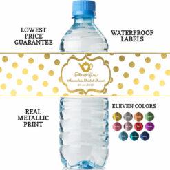 tea party water bottle labels