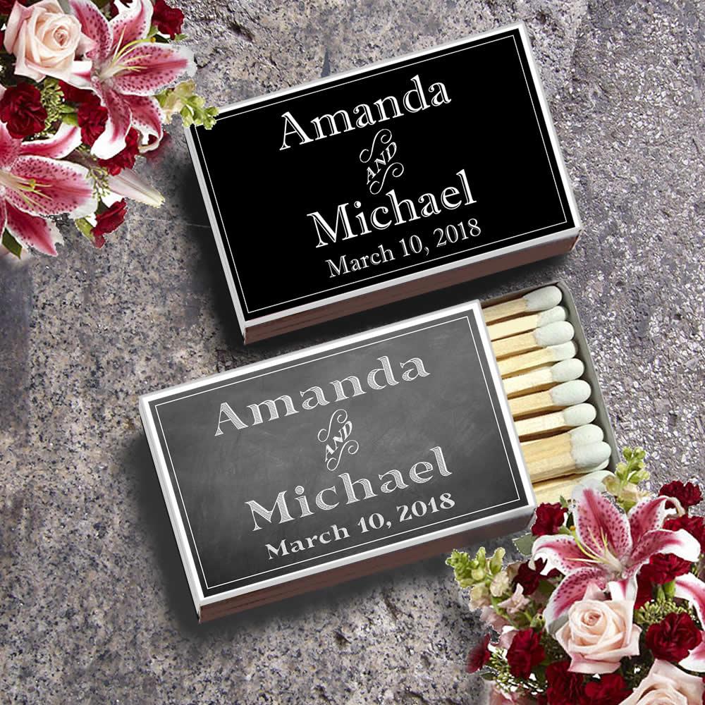 Matchbox Wedding Favors Free Assembly No Setup Fees