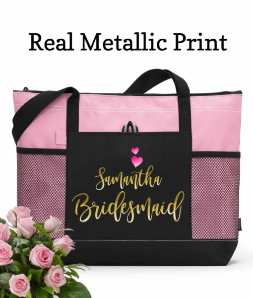 bridesmaids zippered totes