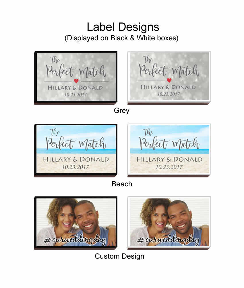 Custom Design Colorful Matchboxes Set of Personalized Watercolor Matchboxes