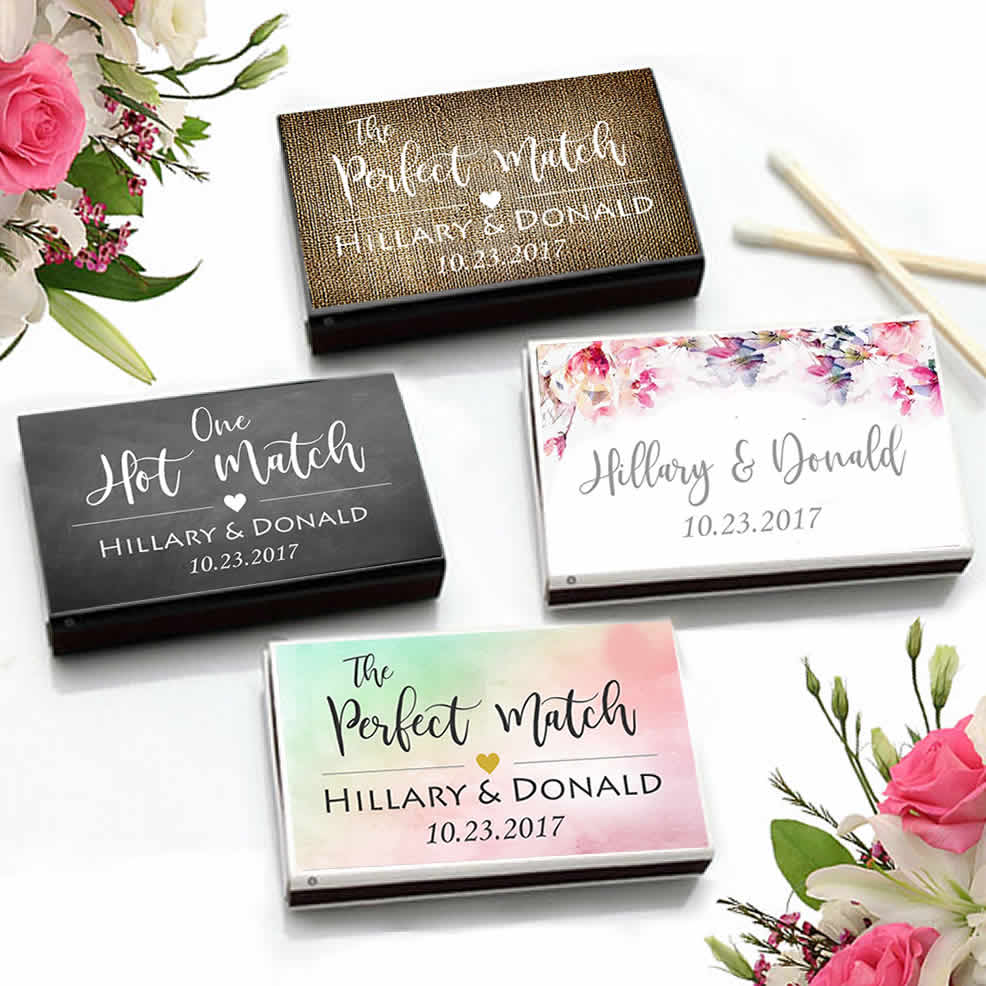 Cheap Personalized Matchboxes, Personalized Wedding Matches - FREE ...