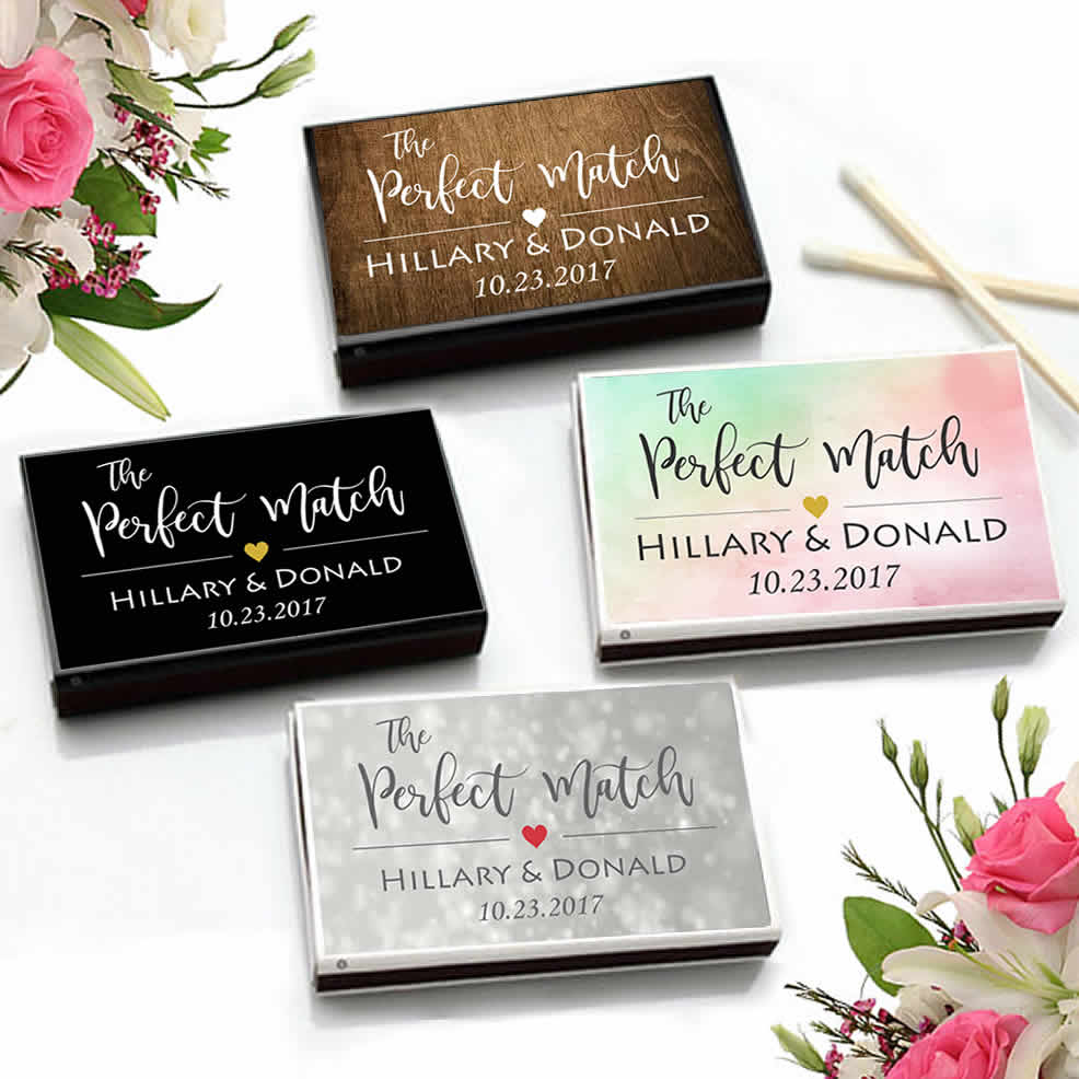 Wedding Favor Matches, Personalized Wedding Matches