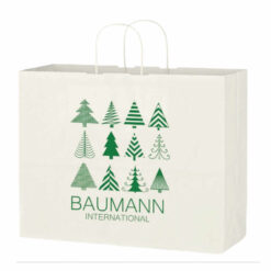 Kraft Paper White Shopping Bag
