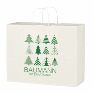 Kraft Paper White Shopping Bag