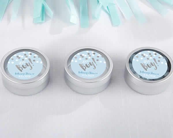 Baby Boy Shower Favors Cheap Custom Silver Mint Tins No Setup Fees