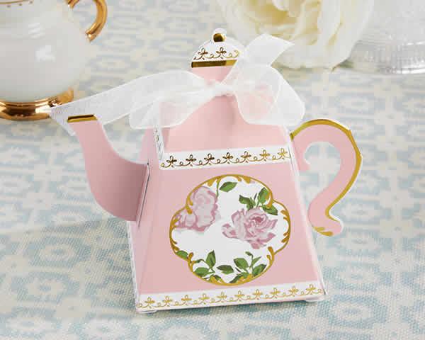 Baby Shower Tea Party Favors Tea Time Whimsy Teapot Favor Box