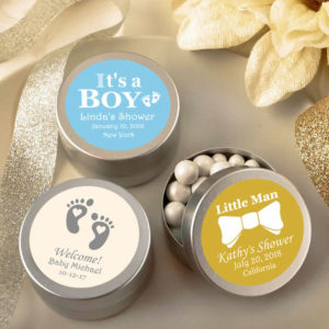 personalized baby shower favors for a boy