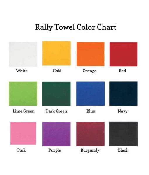 wedding towel color chart