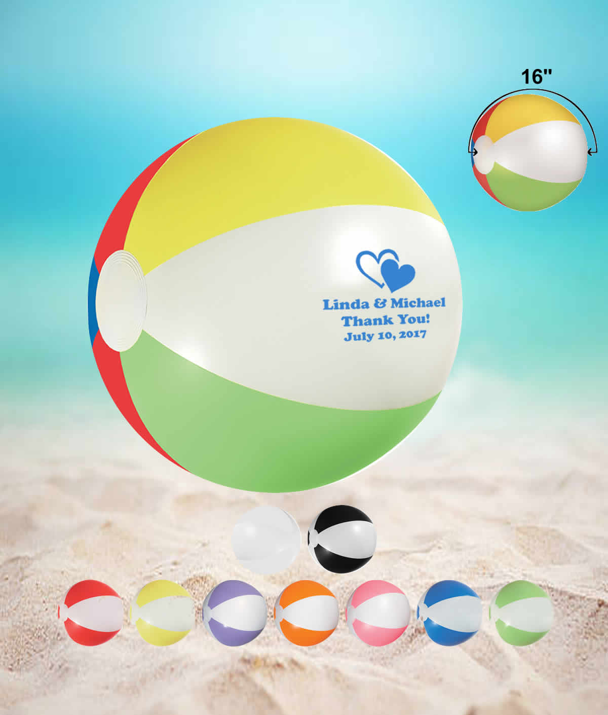 Beach Theme Party Ideas 16 Wedding Beach Balls Free Proofs No Setup Fees
